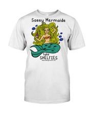 Sassy Mermaids Take Shelfies - Blonde Classic T-Shirt thumbnail