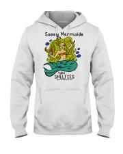 Sassy Mermaids Take Shelfies - Blonde Hooded Sweatshirt thumbnail