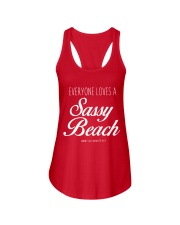Everyone Loves a Sassy Beach Ladies Flowy Tank front