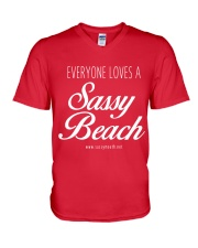 Everyone Loves a Sassy Beach V-Neck T-Shirt thumbnail