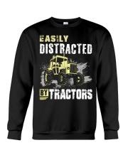 Easily Distracted By Tractors Crewneck Sweatshirt thumbnail