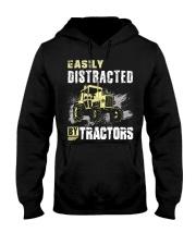 Easily Distracted By Tractors Hooded Sweatshirt thumbnail