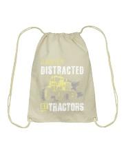 Easily Distracted By Tractors Drawstring Bag thumbnail