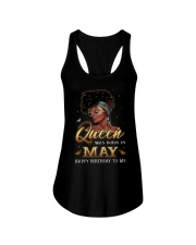 A Queen Was Born In May Ladies Flowy Tank thumbnail