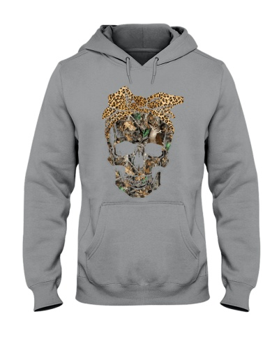 Deer Hunting Camouflage Skull With Leopard Bandana
