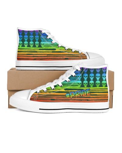 Pride LGBT Skull Rainbow Gift Shoe