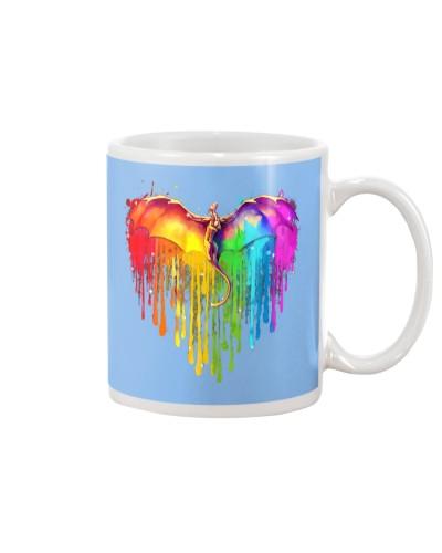 Rainbow Dragon Heart Shirt