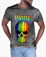 Gay Pride Rainbow Flag Skull Gift T-Shirt  All-over T-Shirt aos-all-over-T-shirt-lifestyle-front-04