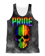 Gay Pride Rainbow Flag Skull Gift T-Shirt  All-over Unisex Tank thumbnail