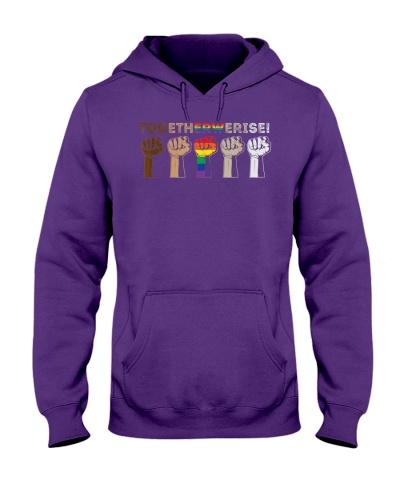 LGBT Hands Together We Rise Shirt