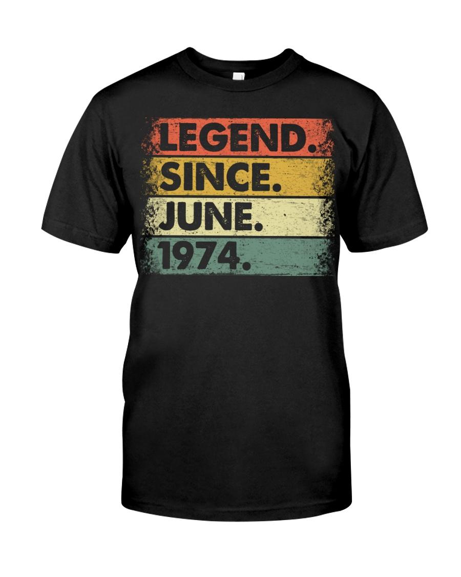 Legend Since June 1974 Premium Fit Mens Tee