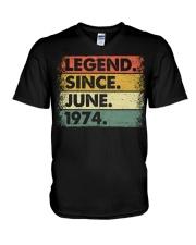 Legend Since June 1974 V-Neck T-Shirt thumbnail