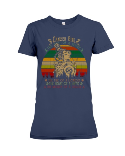 Cancer Girl The Soul Of A Witch Gift T-shirt