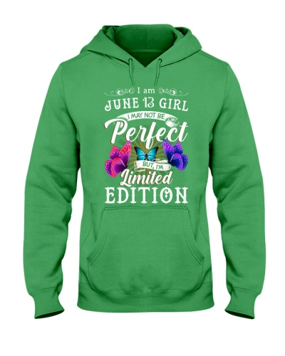 I am June 13 Girl I May Not Be Perfect T-Shirt