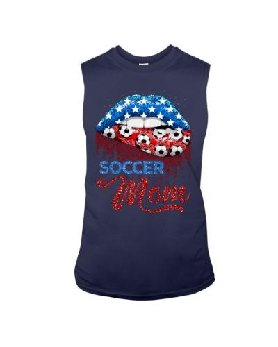 Lips American Flag Soccer Mom T-shirt Hoodie