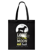 Love You To The Moon And Black Tote Bag tile