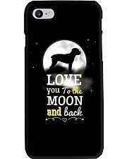 Love You To The Moon And Black Phone Case tile