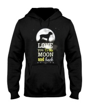 Love You To The Moon And Black Hooded Sweatshirt tile