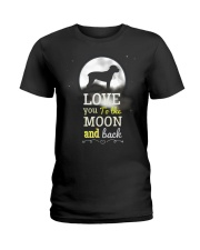 Love You To The Moon And Black Ladies T-Shirt tile
