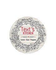 Love Eat Vegan Circle Cutting Board tile