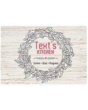 Love Eat Vegan Rectangle Cutting Board front