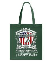 I Am A Grumpy Veteran Tote Bag tile