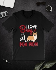 I Love Being A Dog Mom Classic T-Shirt lifestyle-mens-crewneck-front-16