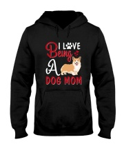 I Love Being A Dog Mom Hooded Sweatshirt thumbnail