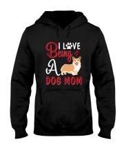 I Love Being A Dog Mom Hooded Sweatshirt thumbnail