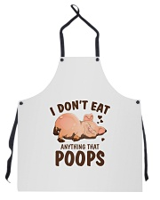 I Don't Eat Anything That Poops Apron thumbnail