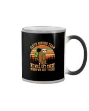 Sloth Hiking Team Color Changing Mug tile