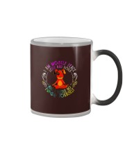 I Am Mostly Peace Love And Dogs Color Changing Mug tile
