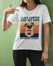 I Like Coffee And My Dog Ladies T-Shirt apparel-ladies-t-shirt-lifestyle-front-10