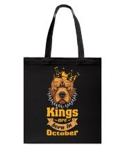 King Are Born In October Tote Bag tile
