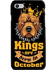 King Are Born In October Phone Case tile