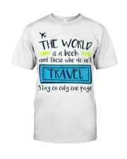The World Is A Book Classic T-Shirt front