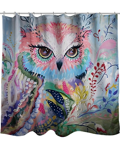 Shower Owl Curtain