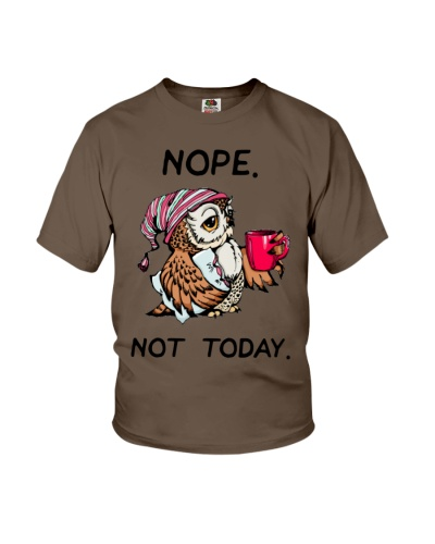 Owl nope not today tee shirt Funny