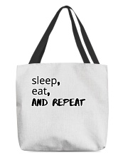 sleep eat and repeat tshirt All-over Tote thumbnail