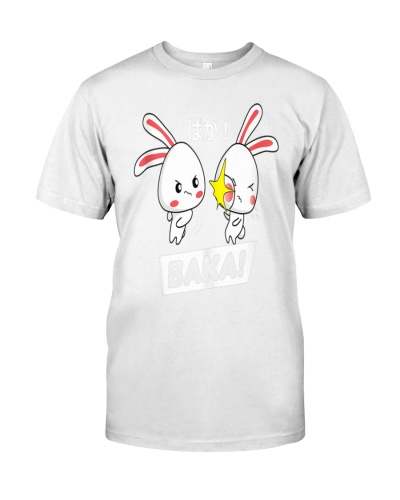 Baka Anime Quote Chibi Head Rabbit Slap