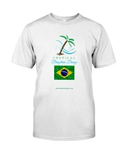 Tropical Brazilian Breeze Flag 2 Classic T-Shirt front