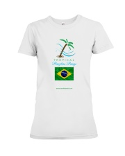 Tropical Brazilian Breeze Flag 2 Premium Fit Ladies Tee thumbnail