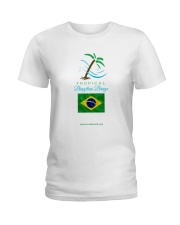 Tropical Brazilian Breeze Flag 2 Ladies T-Shirt thumbnail