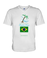 Tropical Brazilian Breeze Flag 2 V-Neck T-Shirt thumbnail