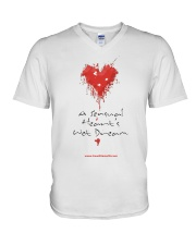 A Sensual Heart's Wet Dream V-Neck T-Shirt thumbnail
