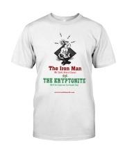 The Iron Man vs The Kryptonite Classic T-Shirt front