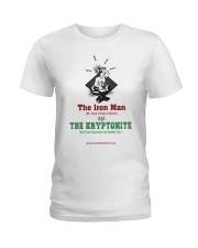 The Iron Man vs The Kryptonite Ladies T-Shirt thumbnail