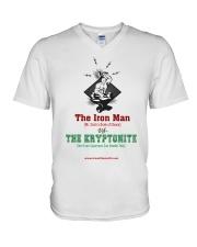 The Iron Man vs The Kryptonite V-Neck T-Shirt thumbnail