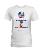 Dominican Rum Fiesta Punch - Beach Ball Flag Ladies T-Shirt thumbnail