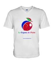 Le Cognac de Pêche V-Neck T-Shirt thumbnail